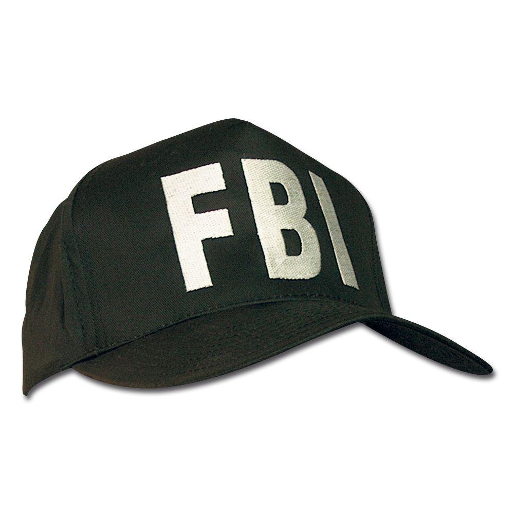 Mil-Tec Baseballcap FBI Baseball Cap Mütze Baseballmütze Schirmmütze Schwarz