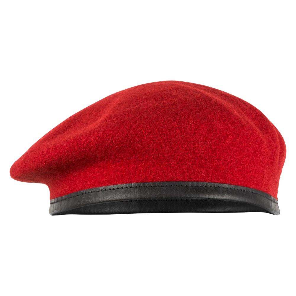 Commando Barett Kopfbedeckung Militär Armee Mütze bordeauxrot 100/% Wolle