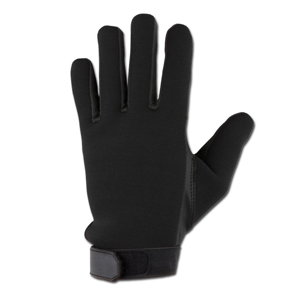 handschuhe neopren fingerhandschuhe winterkleidung schwarz mit lederbesatz ebay. Black Bedroom Furniture Sets. Home Design Ideas