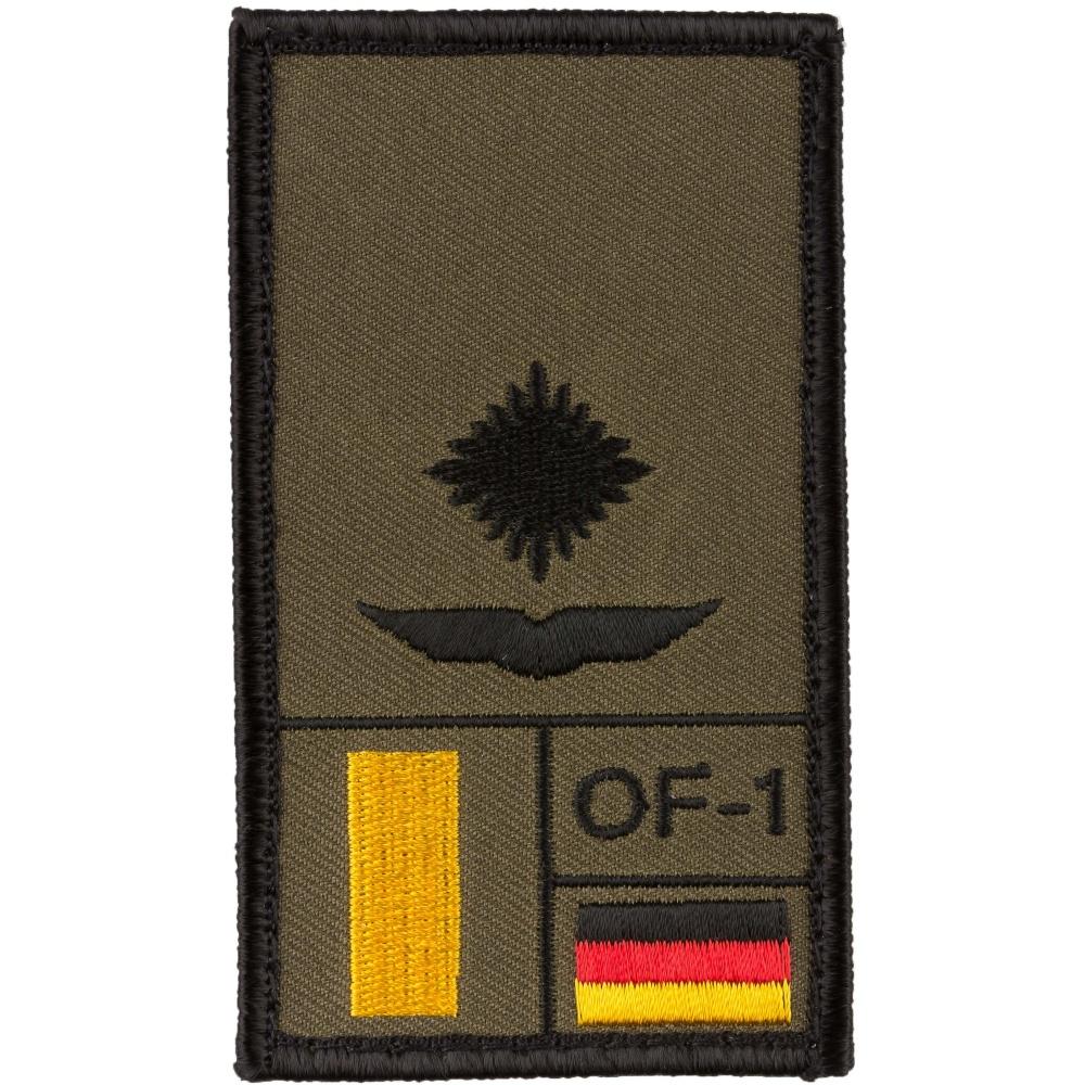Café Viereck Rank Patch Hauptgefreiter oliv Rangabzeichen mit Klett